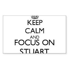 Keep Calm and Focus on Stuart Decal