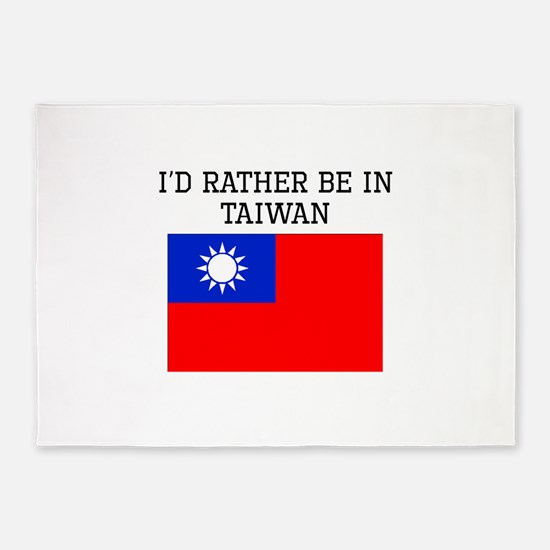 Id Rather Be In Taiwan 5'x7'Area Rug
