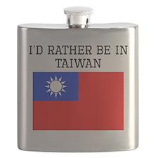 Id Rather Be In Taiwan Flask