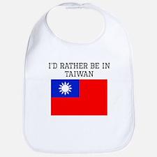 Id Rather Be In Taiwan Bib
