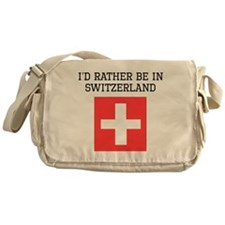 Id Rather Be In Switzerland Messenger Bag
