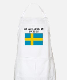 Id Rather Be In Sweden Apron