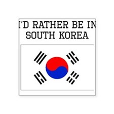 Id Rather Be In South Korea Sticker