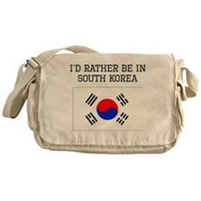 Id Rather Be In South Korea Messenger Bag