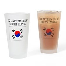 Id Rather Be In South Korea Drinking Glass