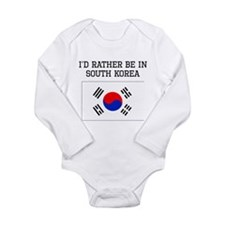 Id Rather Be In South Korea Body Suit