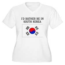 Id Rather Be In South Korea Plus Size T-Shirt