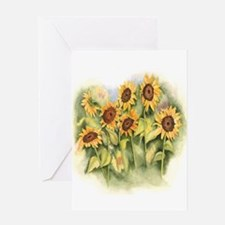 Field of Sunflower Greeting Cards