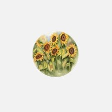 Field of Sunflower Mini Button (100 pack)