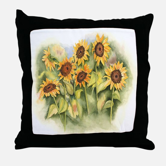 Field of Sunflower Throw Pillow