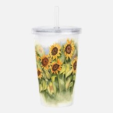 Field of Sunflower Acrylic Double-wall Tumbler