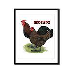 Red Caps Framed Panel Print