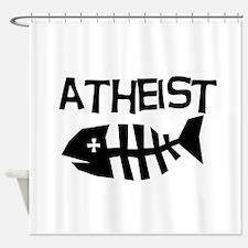 Atheist Fish Shower Curtain
