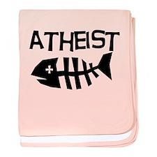 Atheist Fish baby blanket