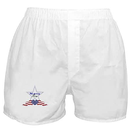 navy mom Boxer Shorts