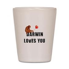 Darwin Loves You Shot Glass