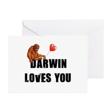Darwin Loves You Greeting Cards (Pk of 20)
