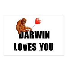 Darwin Loves You Postcards (Package of 8)