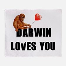 Darwin Loves You Throw Blanket