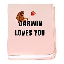 Darwin Loves You baby blanket