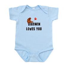 Darwin Loves You Infant Bodysuit