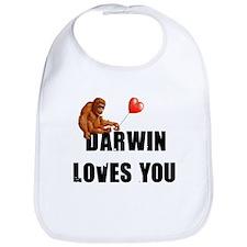 Darwin Loves You Bib