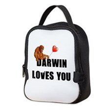 Darwin Loves You Neoprene Lunch Bag