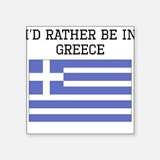 Id Rather Be In Greece Sticker