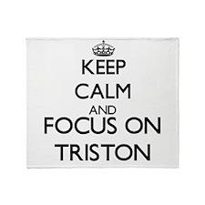 Keep Calm and Focus on Triston Throw Blanket