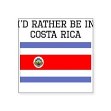 Id Rather Be In Costa Rica Sticker