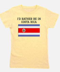 Id Rather Be In Costa Rica Girl's Tee