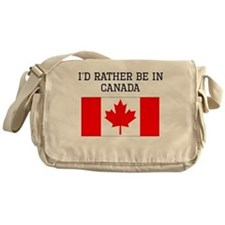 Id Rather Be In Canada Messenger Bag