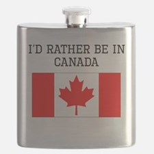 Id Rather Be In Canada Flask