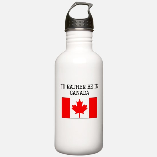 Id Rather Be In Canada Water Bottle