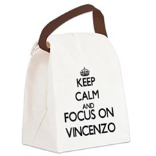 Keep Calm and Focus on Vincenzo Canvas Lunch Bag