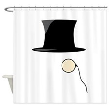 Top Hat Monocle Shower Curtain