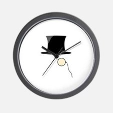 Top Hat Monocle Wall Clock