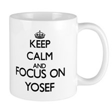 Keep Calm and Focus on Yosef Mugs