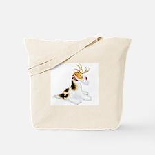 Wire Fox Terrier Reindeer Tote Bag