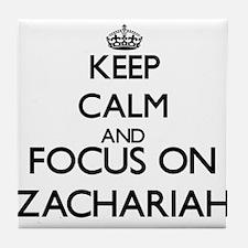 Keep Calm and Focus on Zachariah Tile Coaster