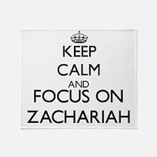 Keep Calm and Focus on Zachariah Throw Blanket