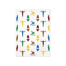 Mens Gymnastics 5'X7'area Rug