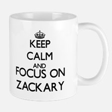Keep Calm and Focus on Zackary Mugs