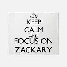 Keep Calm and Focus on Zackary Throw Blanket