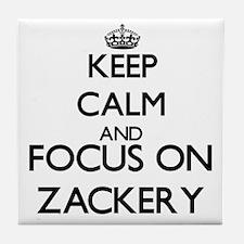 Keep Calm and Focus on Zackery Tile Coaster