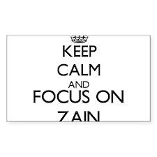 Keep Calm and Focus on Zain Decal