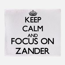 Keep Calm and Focus on Zander Throw Blanket