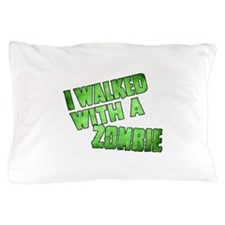I Walked With a Zombie Vintage Green G Pillow Case