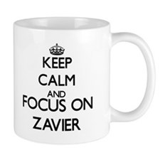 Keep Calm and Focus on Zavier Mugs