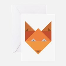 Origami Fox Greeting Cards